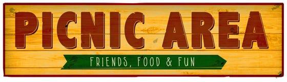 Picnic Area Sign Picnic Invitation Wood Vintage