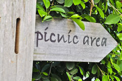 Picnic area sign. Royalty Free Stock Photos