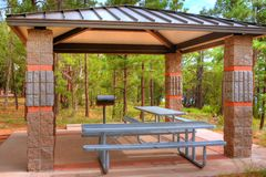 Picnic Area and Table Royalty Free Stock Photography