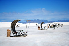 A Picnic Area in White Sands Stock Photo