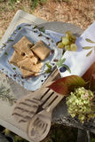 Picnic in Autumn nature Stock Images