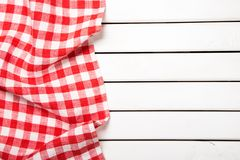 Picnic. Background cloth red kitchen tablecloth wooden Stock Photos