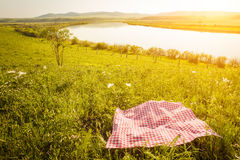 Picnic background Stock Photos