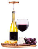 Picnic background with wine and food Stock Photography