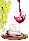 Picnic background with wine and food Royalty Free Stock Images