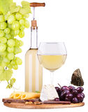 Picnic background with wine and food Stock Image