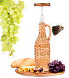 Picnic background with wine and food Stock Photo