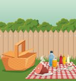 Picnic time design Stock Image