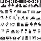 Picnic and barbecue web icons. Stock Photos