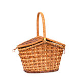 Picnic basket. Basket for picnic, isolated on white Stock Images