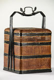 Picnic Basket. Antique Chinese woven bamboo picnic basket Stock Photography