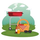 Picnic time design Royalty Free Stock Photo