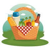 Picnic time design Royalty Free Stock Images