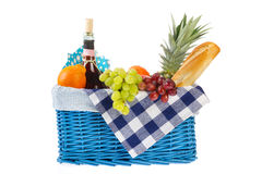 Picnic basket with healthy food Royalty Free Stock Photo