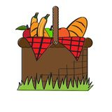 Picnic basket icon. Isolated picnic basket icon. Vector illustration design Royalty Free Stock Photo