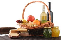Picnic basket. Isolated Stock Image
