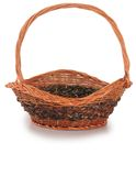Picnic basket. Isolated Royalty Free Stock Photography