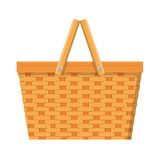 Picnic basket isolated icon. Vector illustration in flat style stock illustration