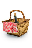 Picnic Basket. Isolated over white background Stock Photography