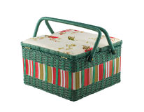 Picnic basket isolated on white background Royalty Free Stock Photography