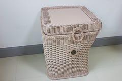Picnic basket, isolated on white Stock Photo