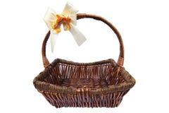 Picnic basket, isolated on white Royalty Free Stock Images