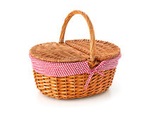 Picnic basket, isolated on white Stock Images