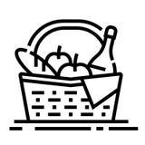 Picnic basket Line Icon stock illustration