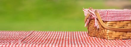 Free Picnic Basket On A Table With A Red Tablecloth. Summer Mood. Relaxation. Holidays Royalty Free Stock Photos - 150378238