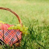 Picnic basket Stock Photography