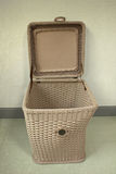 Picnic basket, vintage background Stock Images