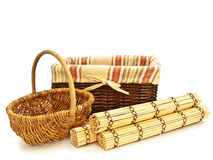 Picnic baskets Royalty Free Stock Images