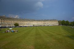 Picnic in Bath Royalty Free Stock Image