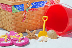 Picnic on the beach Stock Image