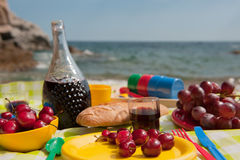 Picnic at the beach Royalty Free Stock Image