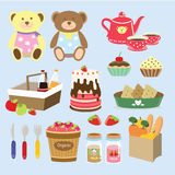 Picnic bear Royalty Free Stock Image