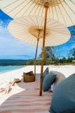 Picnic of beautiful beach royalty free stock photos