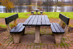Picnic bench Royalty Free Stock Photography