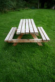 Picnic bench. Picnic table in country park Stock Photography