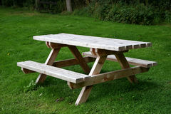 Picnic bench. Picnic table in country park Stock Photo