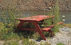 Picnic Bench-Frenchboro Long Island ME royalty free stock image