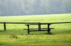 Picnic bench Stock Image