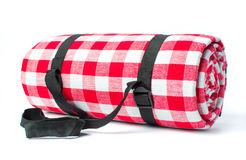 Picnic blanket isolated on white background Royalty Free Stock Photo