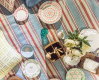 Picnic Blanket Scene Stock Photo