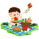 Picnic boy. A vector of picnic boy royalty free illustration