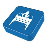Picnic brazier icon. Vector illustration Stock Photos