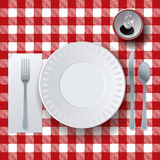 Picnic Casual Dining Placesetting Illustration Stock Photography