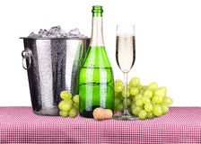 Picnic with champagne and food Royalty Free Stock Images