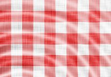 Picnic cloth. Digitally made wavy red picnic cloth Stock Images