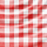 Picnic cloth. Digitally made wavy red picnic cloth Stock Photography